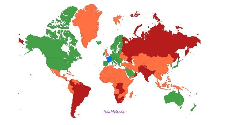 Oman, la République démocratique du Congo et la Zambie sont classés comme pays rouges - DR
