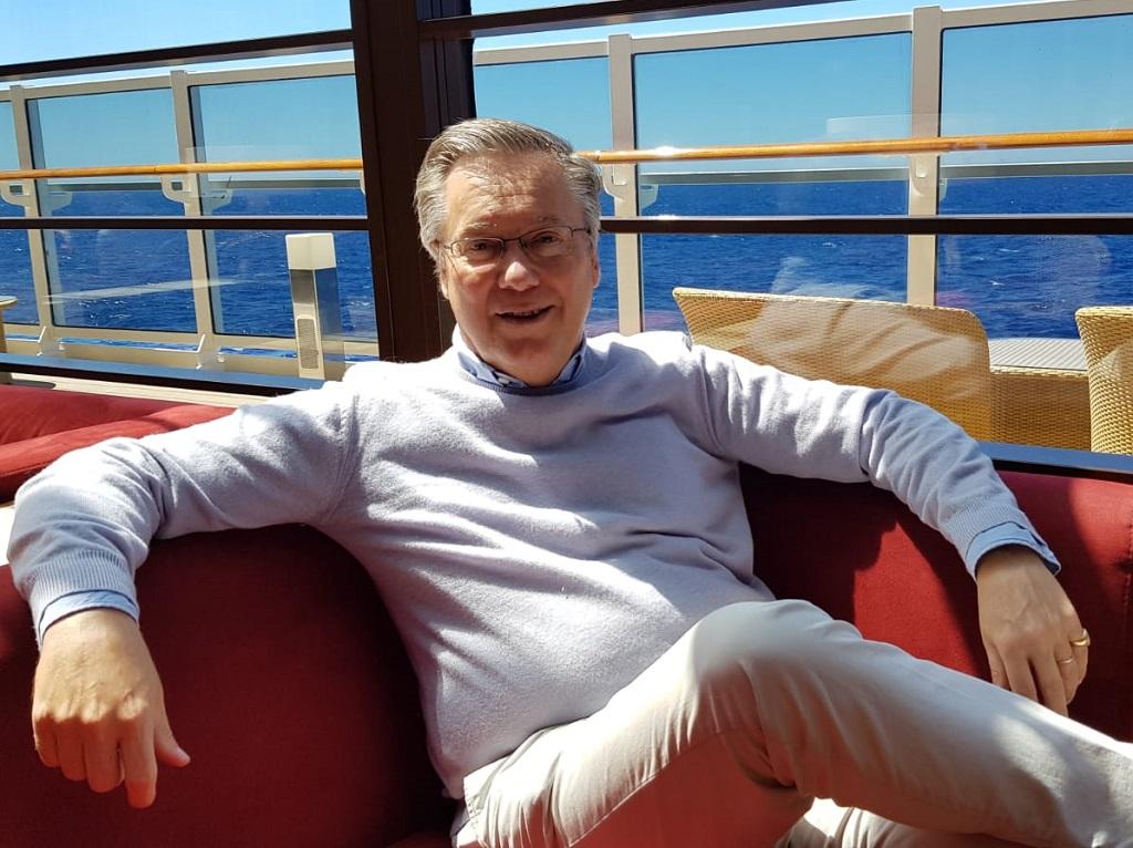 Patrick Pourbaix à bord du MSC Seaside - Photo CE