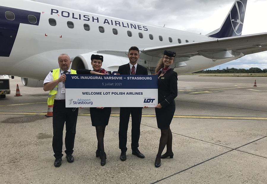 LOT Polish Airlines dessert la ligne Strasbourg - Varsovie - DR