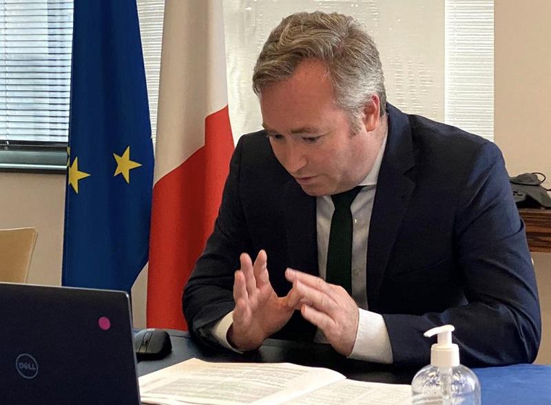 La première réunion des concertations destinées à l'élaboration du plan de reconquête et de transformation du tourisme se tiendra ce jeudi 8 juillet 2021, autour d'Alain Griset et de Jean-Baptiste Lemoyne - DR : Compte Twitter Jean-Baptiste Lemoyne