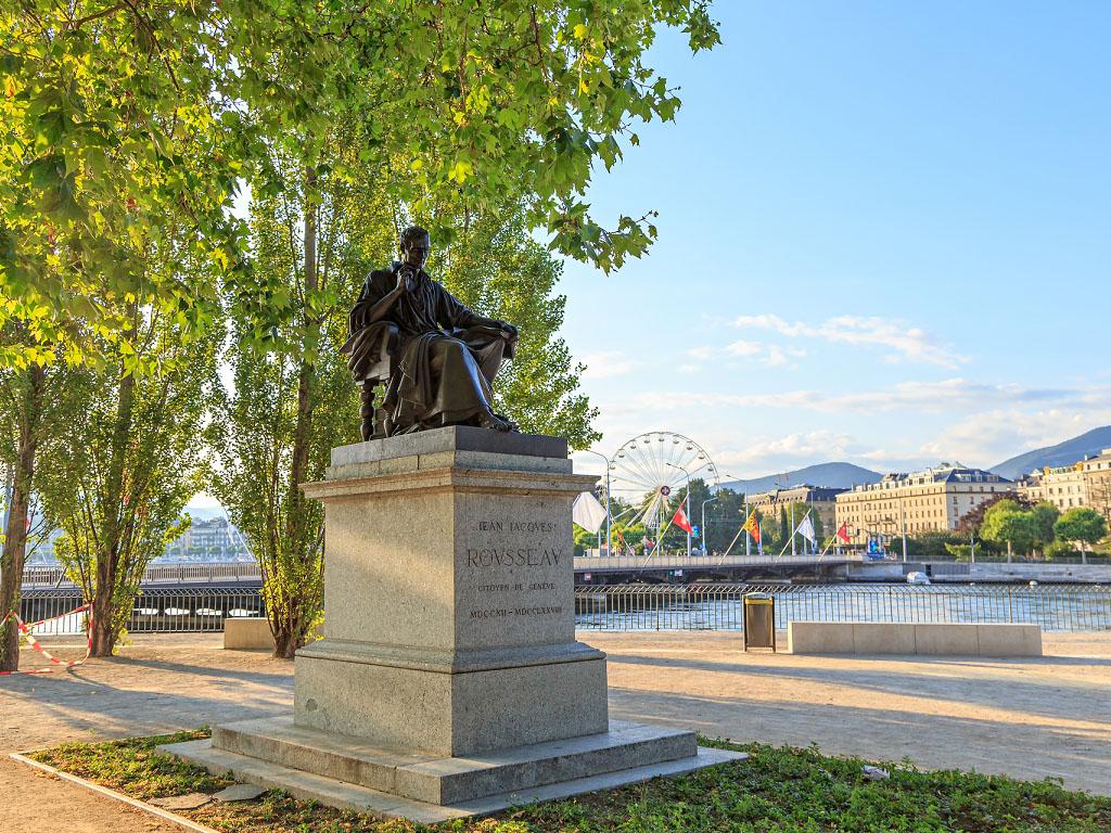 La statue de Jean-Jacques Rousseau à Genève - Depositphotos.com MaykovNikita