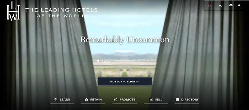 Eléments audiovisuels, questions interactives, contenu partageable avec les clients... la plateforme est aussi dotée d'un design réactif pour a apprendre, promouvoir et vendre le portefeuille du Groupe - DR : The Leading Hotels of the World
