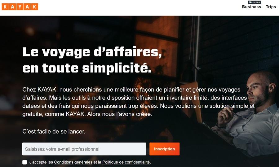 Kayak for Business est une solution gratuite pour les voyageurs d'affaires - DR