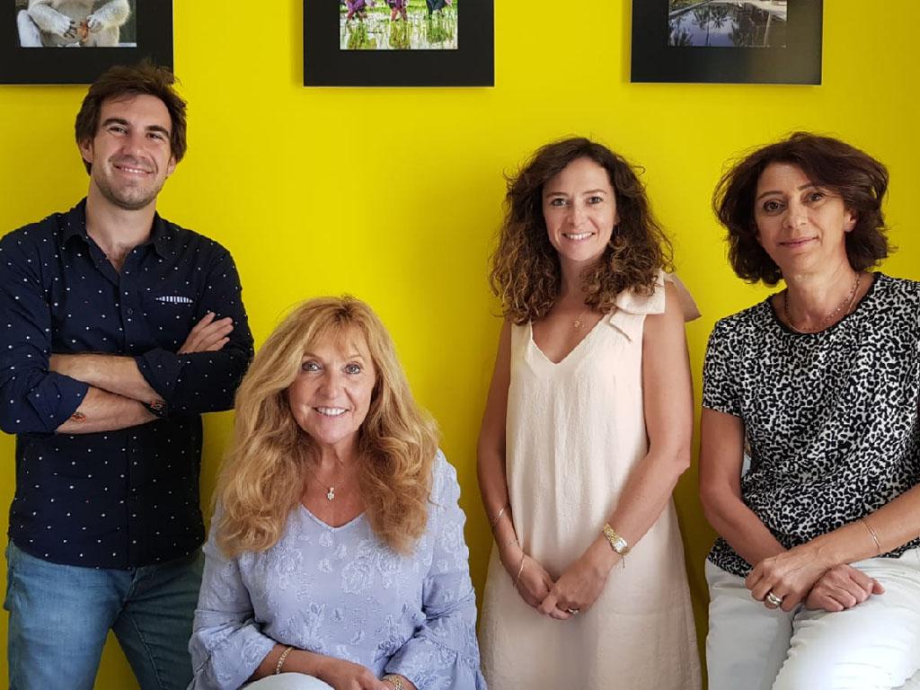 De gauche à droite : Charly Melkonian, Christine Crispin, Olivia Calvin et Gin Boulme - Photo CE