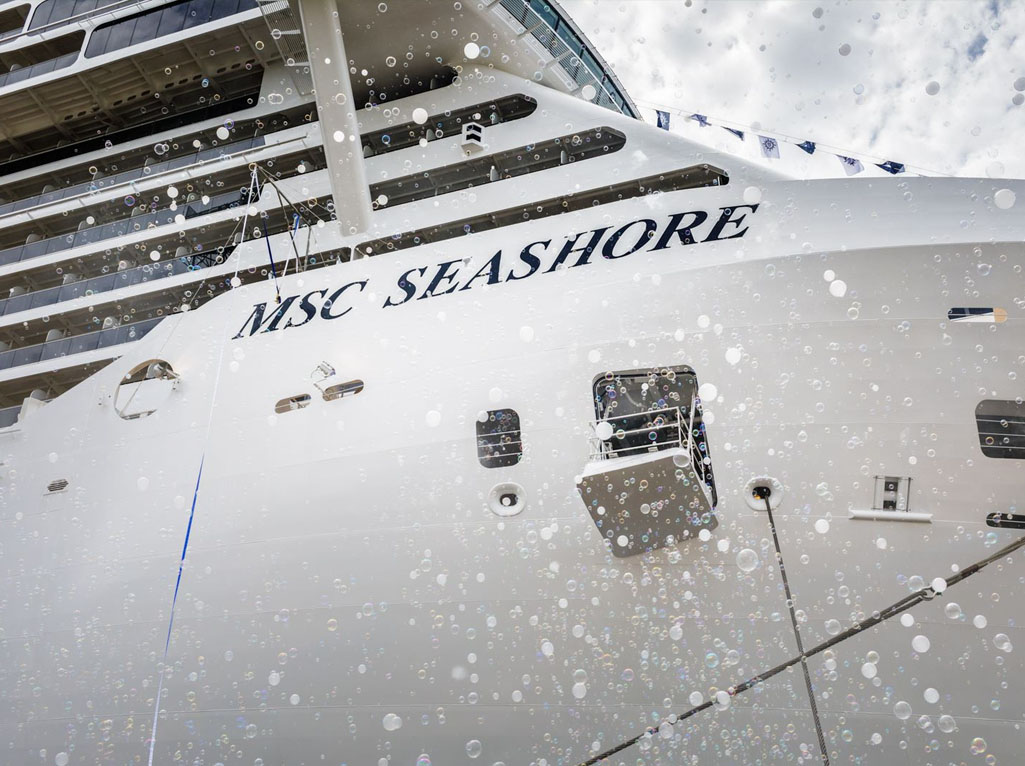 Cérémonie d'inauguration du MSC Seashore - DR
