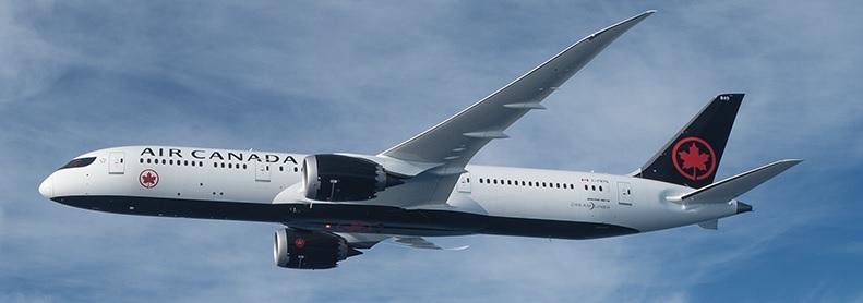 Paris - Toronto : Air Canada assurera la liaison 3 fois par semaine en Boeing 787-900 Dreamliner doté de 298 sièges (tri-classe). - DR
