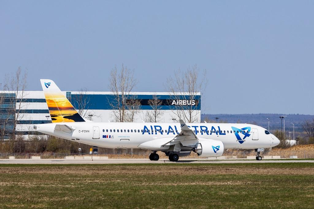 Premier A220-300 d'Air Austral qui va desservir depuis la Réunion : Mayotte et l'Ile Maurice - DR