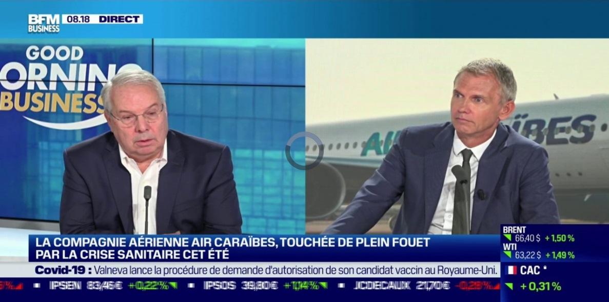 """Marc Rochet s'attendait à un été """"moyen plus"""" dans les Antilles ce ne sera pas le cas a t-il déclaré à BFM Business  - DR"""