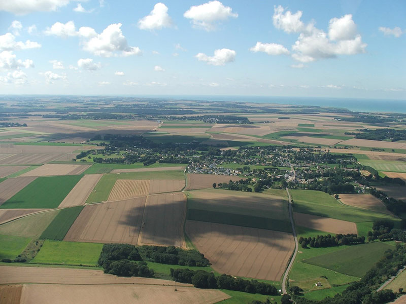 Vue aérienne du Pays de Caux © SIVOM Caux Maritime