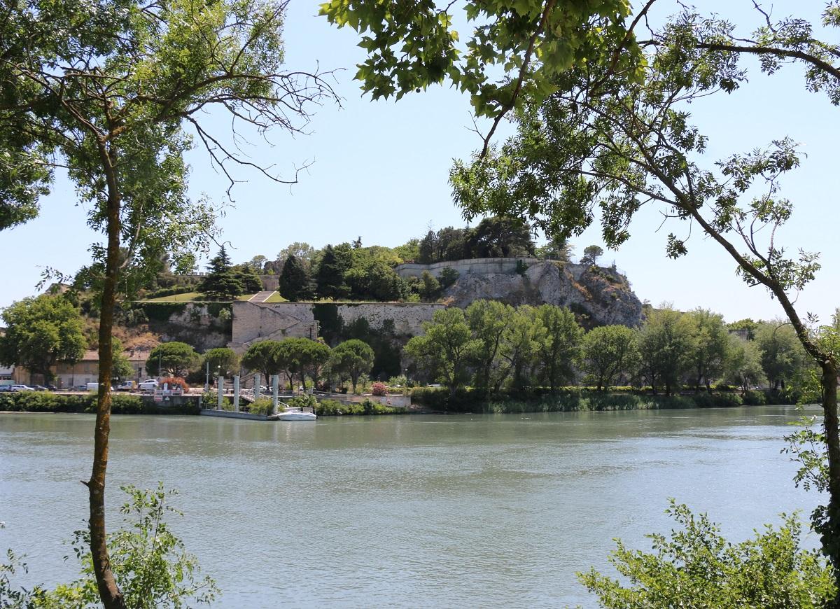 A Avignon, l'île de la Barthelasse permet une escapade loin du tumulte de la ville. A découvrir à deux roues ! - Photo JFR