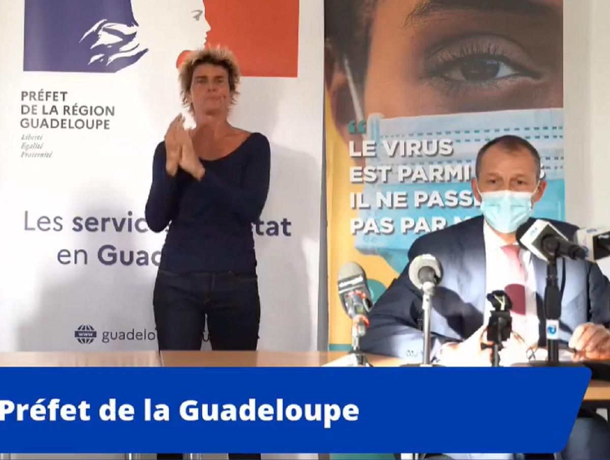 En Guadeloupe le confinement sera allégé progressivement dont une première étape dès le 22 septembre 2022 - Capture écran préfecture de Guadeloupe