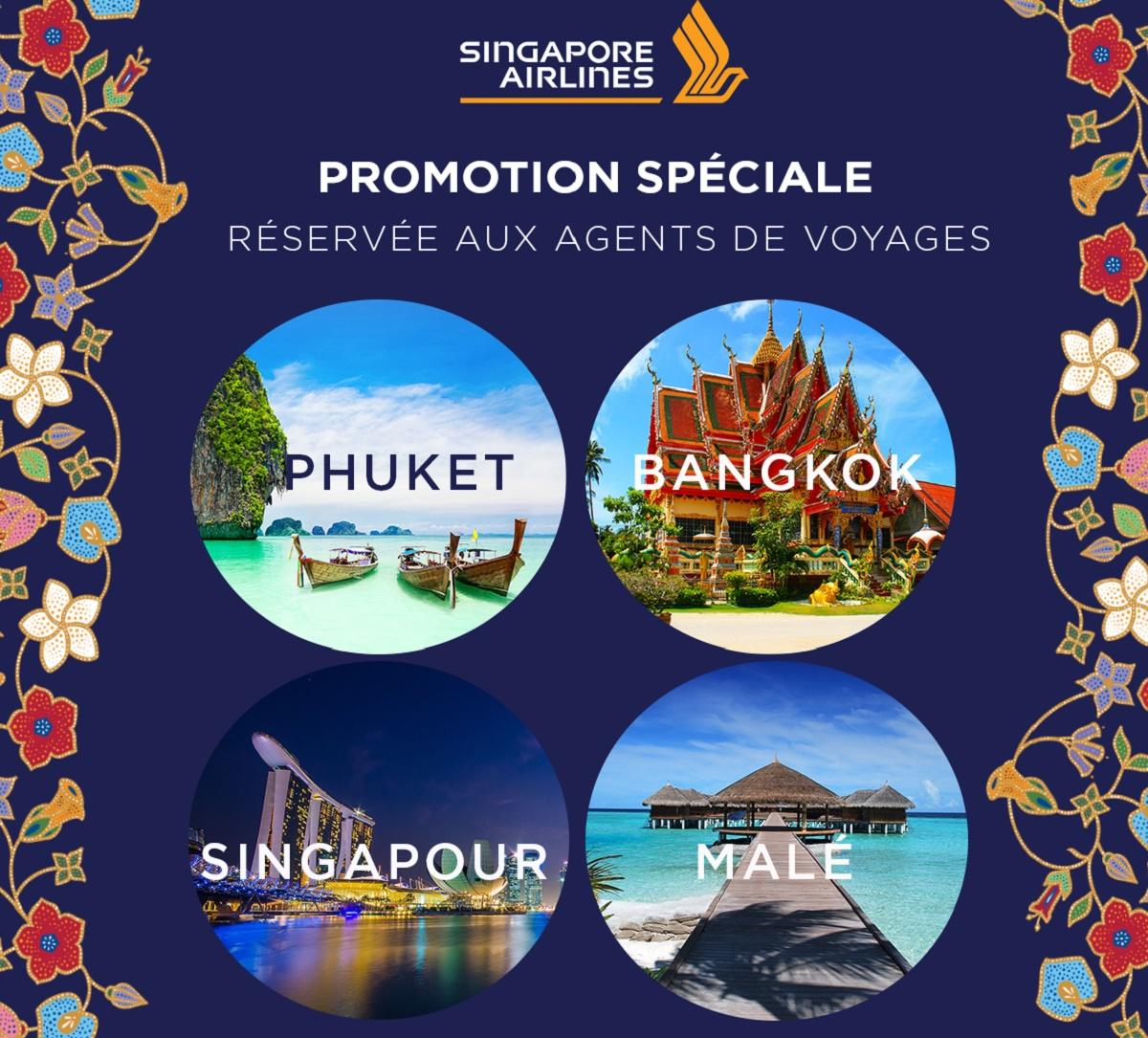 Offre spéciale agent de voyages vers la Thaïlande, Singapour et les Maldives - DR