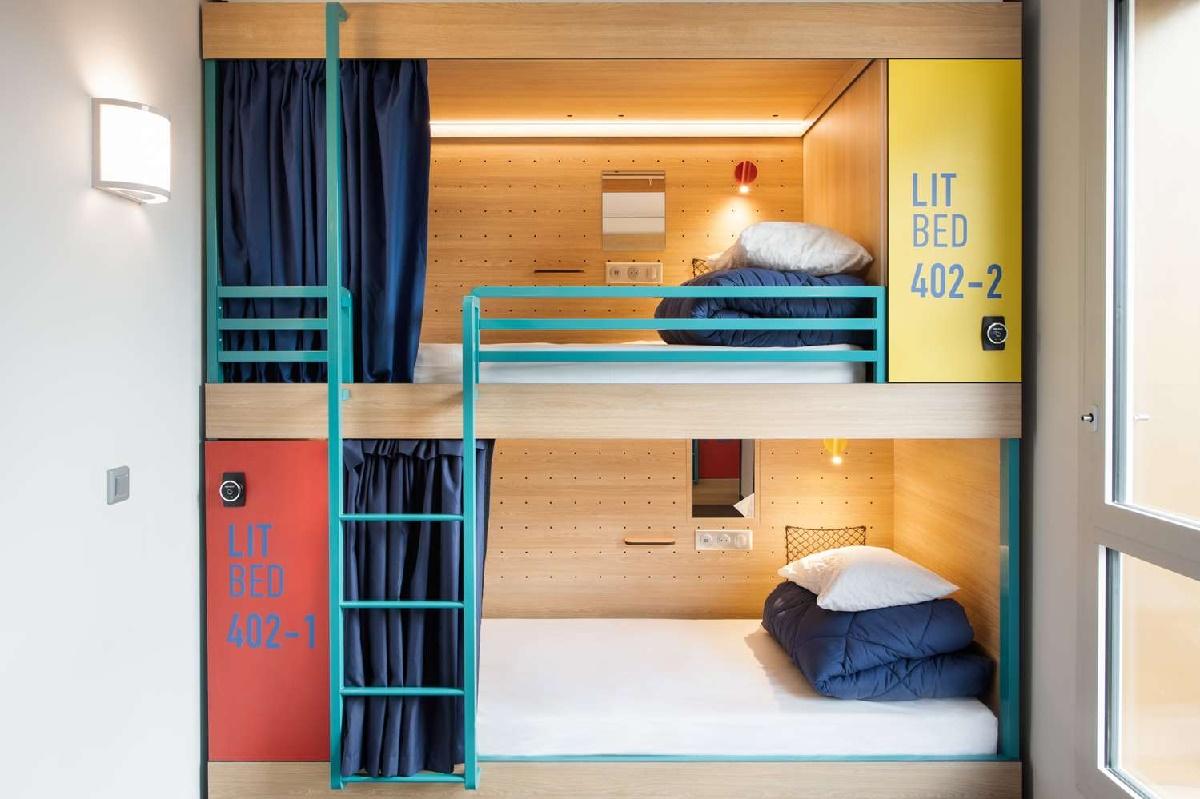 Hosho : Louvre Hotels Group lance un nouveau de concept de lits-capsule à 20 € la nuit à Paris à l'image des auberges de jeunesse et autres hostels - DR louvre hotel