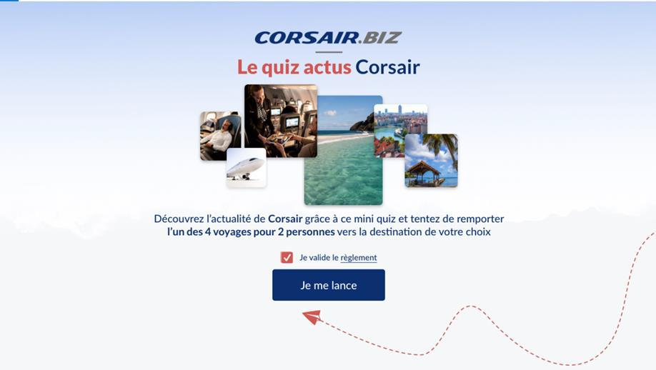 Corsair.biz lance un quiz pour les professionnels du tourisme - DR