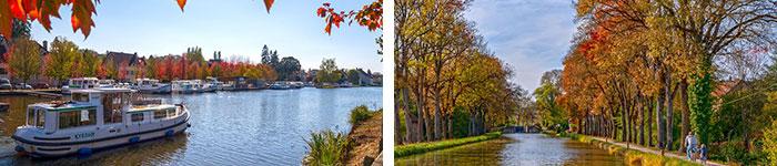 Canal du centre / Canal de Bourgogne © Alain Doire - BFC Tourisme