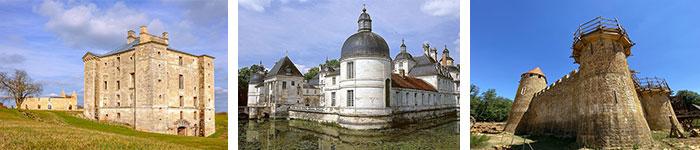 Château Maulnes / Tanlay © Alain Doire - BFC Tourisme / Guédelon © Maud Humbert - BFC Tourisme