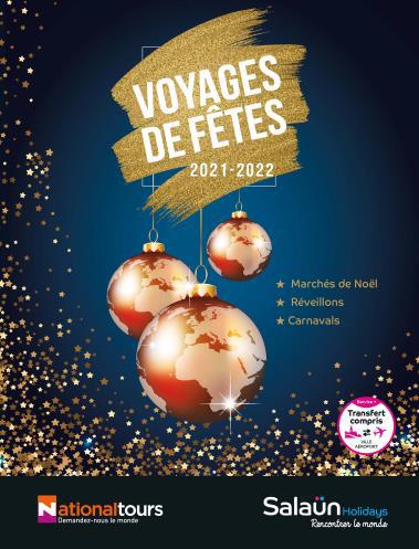 """Salaün Holidays : parution de la brochure """"Voyages de fêtes"""" 2021/22"""