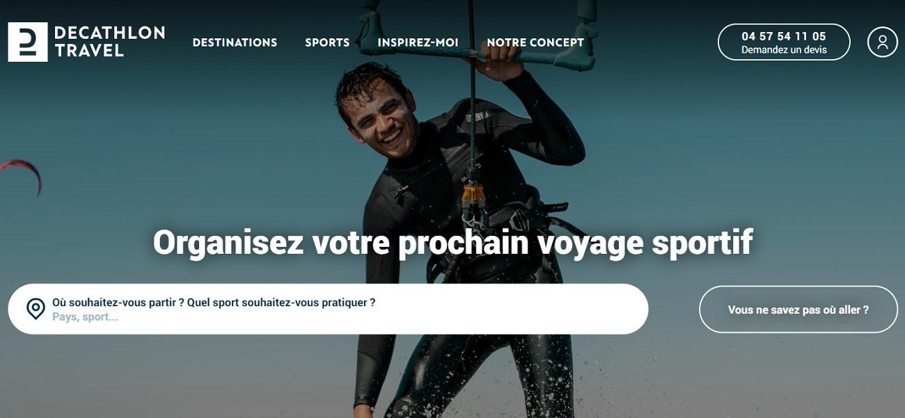 Decathlon Travel est une plateforme spécialisée dans les voyages sportifs - DR