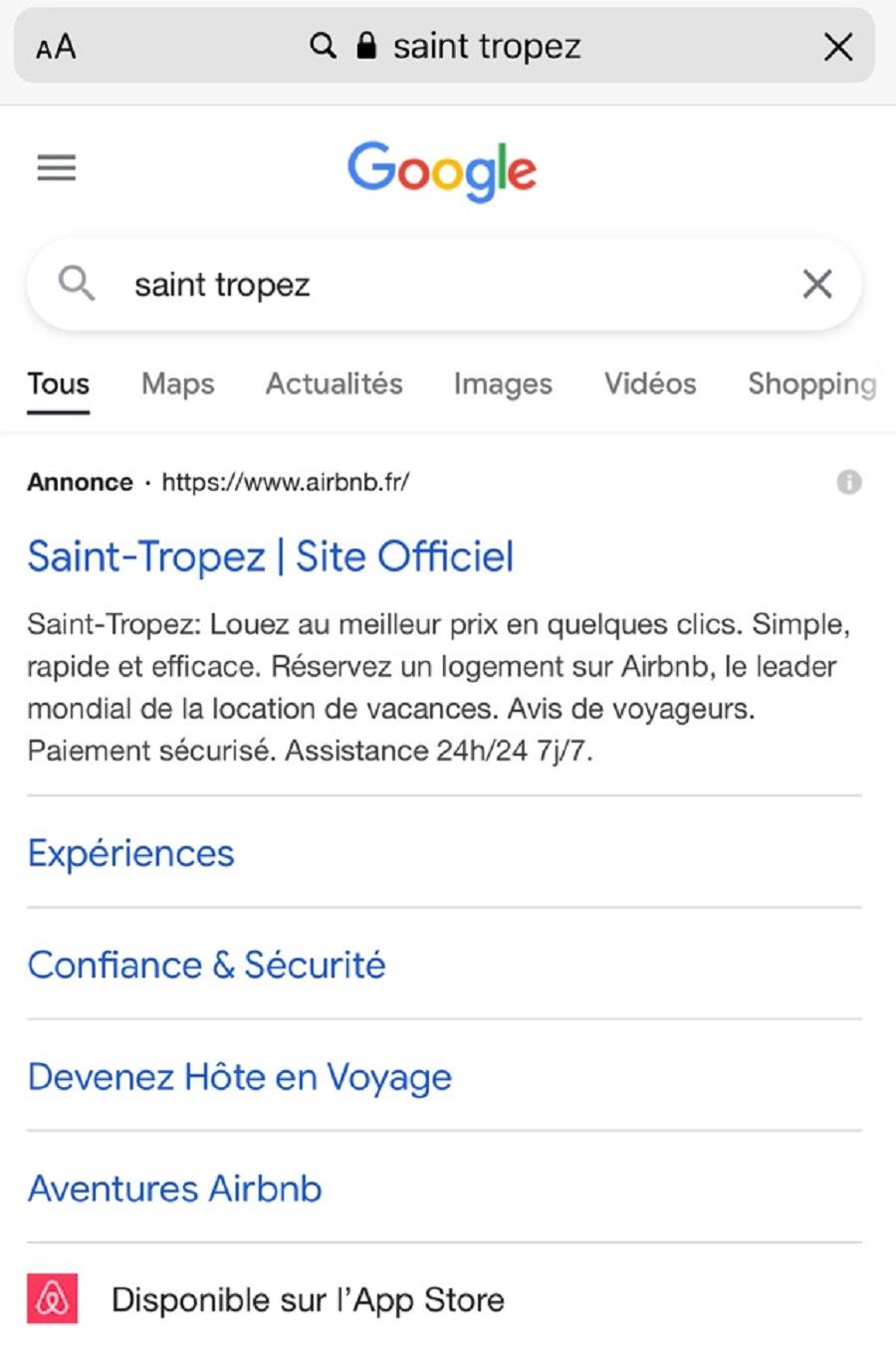 Quand Airbnb se prend pour le site officiel de destinations françaises...