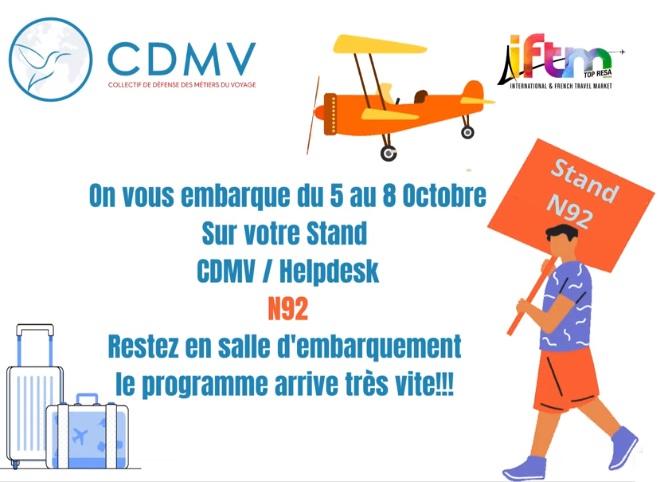 Le CDMV et le Help Desk vous donnent rendez-vous sur l'IFTM Top Resa - DR