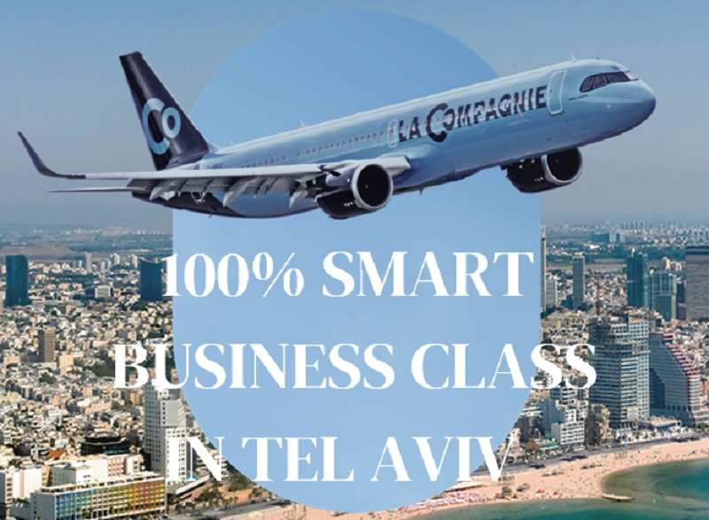 La Compagnie lancera une nouvelle ligne entre Paris et Tel Aviv à partir du 5 décembre 2021 à raison de 2 vols par semaine - DR : La Compagnie