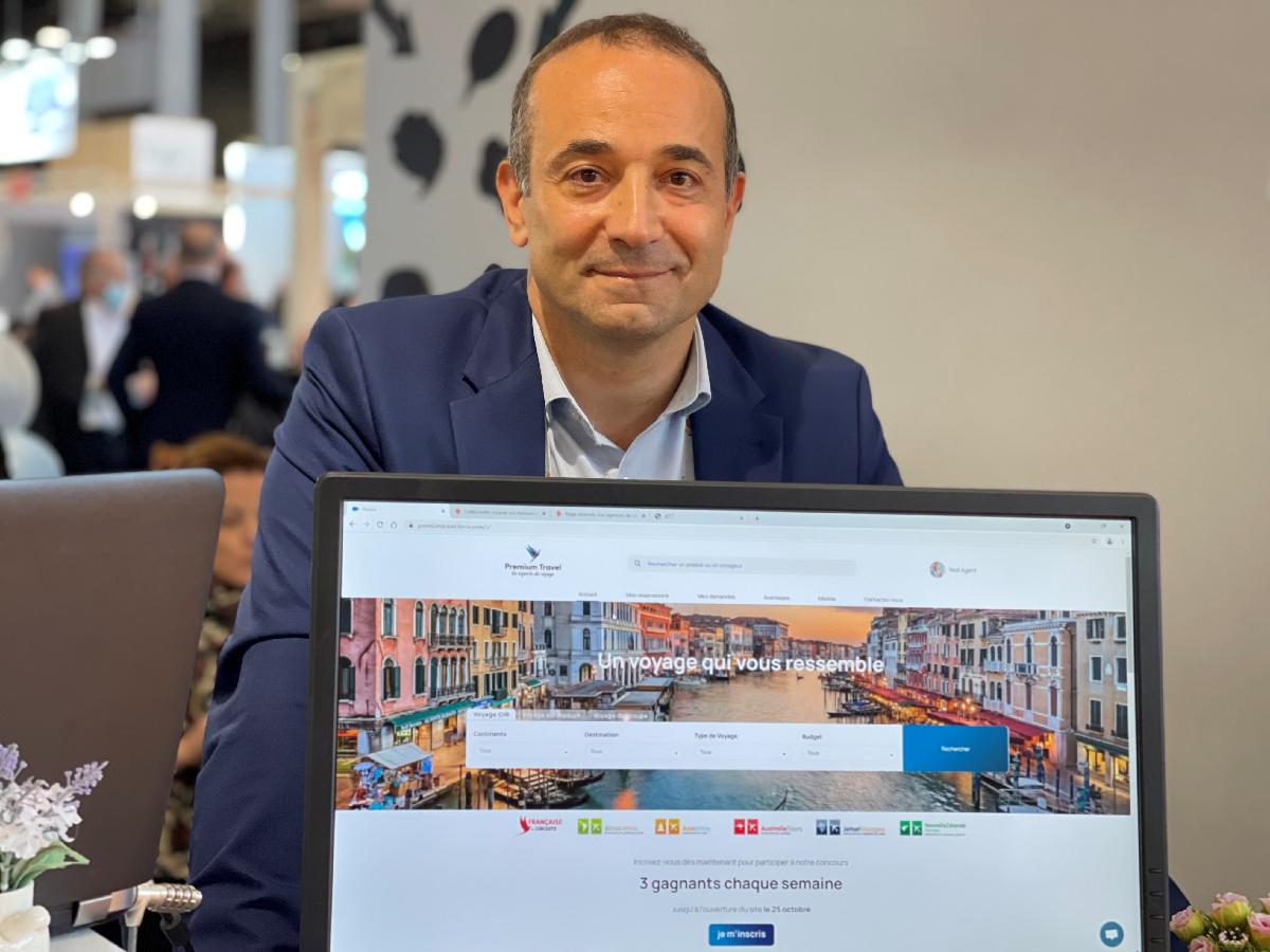 Bruno Berrebi a dévoilé en avant-première à l'IFTM Top Resa sa nouvelle plateforme B2B. Sur les GIR l'outil permet aux agences de récupérer en plus de la commission, une marge arrière lorsque le tarif est moins cher qu'en brochure - Photo JDL