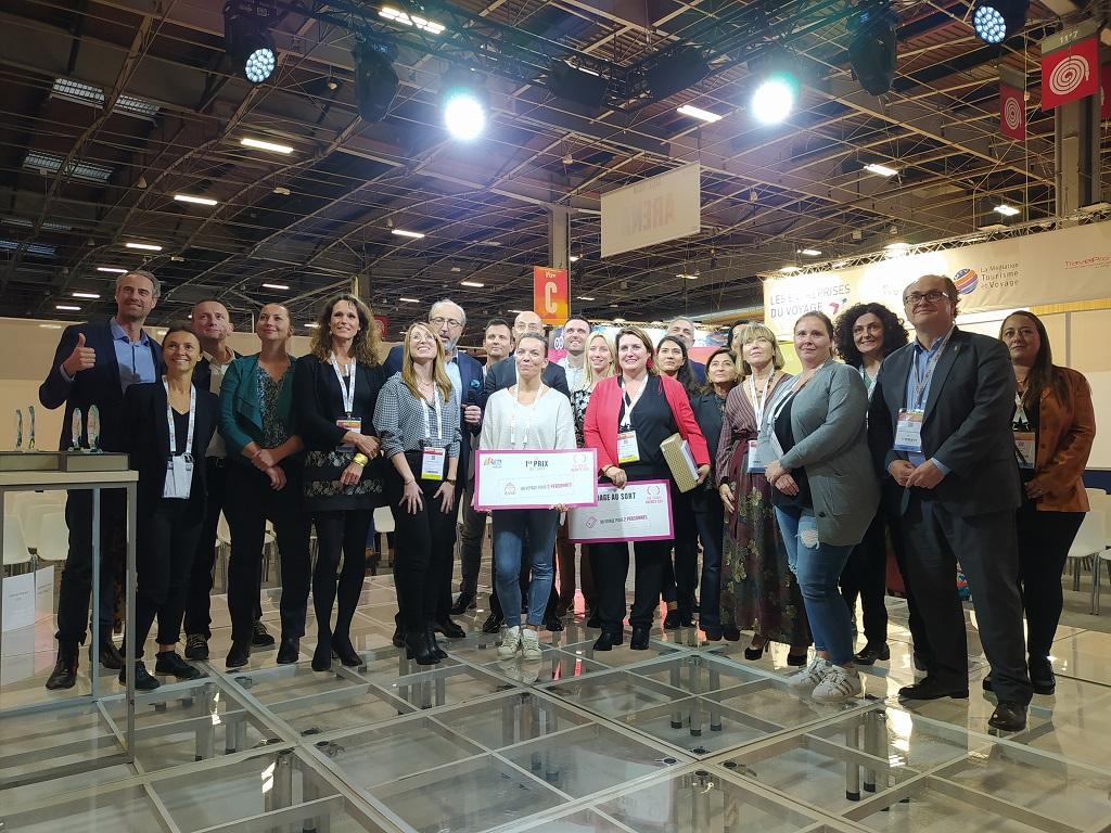 Estelle Kerlidou, conseillère voyages chez Carrefour Voyages à Vannes (Morbihan) a remporté la Travel Agents Cup, ce jeudi 7 octobre 2021, lors de l'IFTM Top Resa, à Paris. - CL