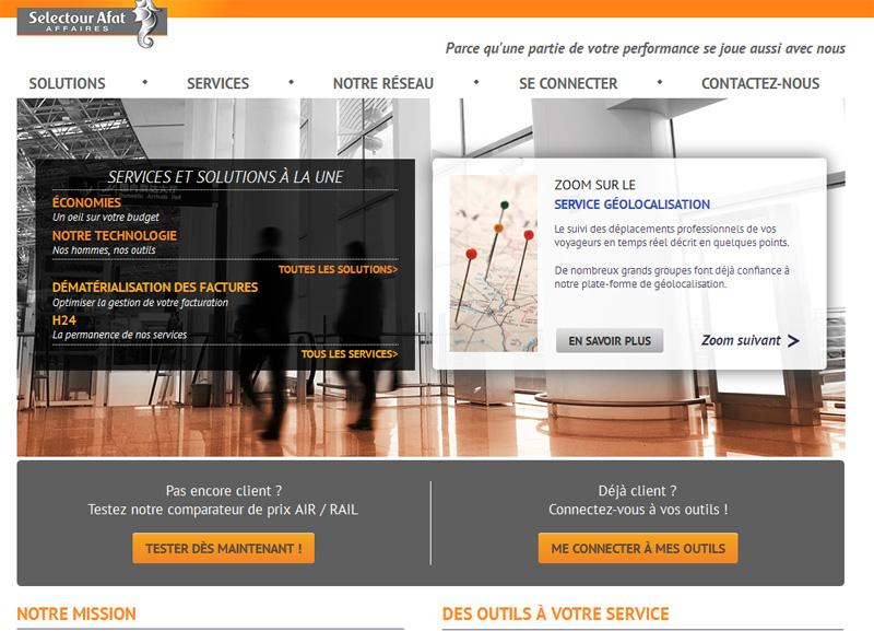 Le nouveau site Selectour Afat Affaires - DR
