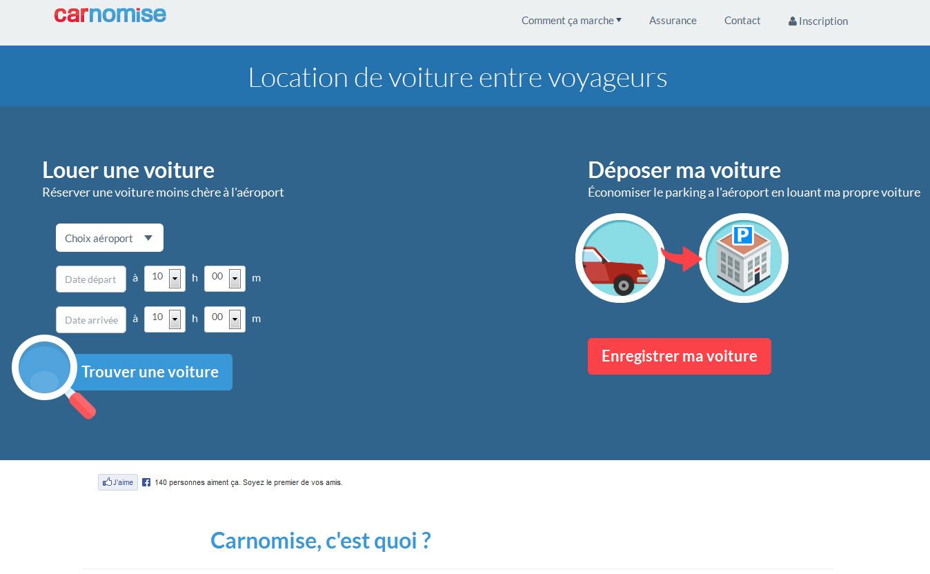Location auto : Carnomise fait économiser le parking à l'aéroport et commissionne