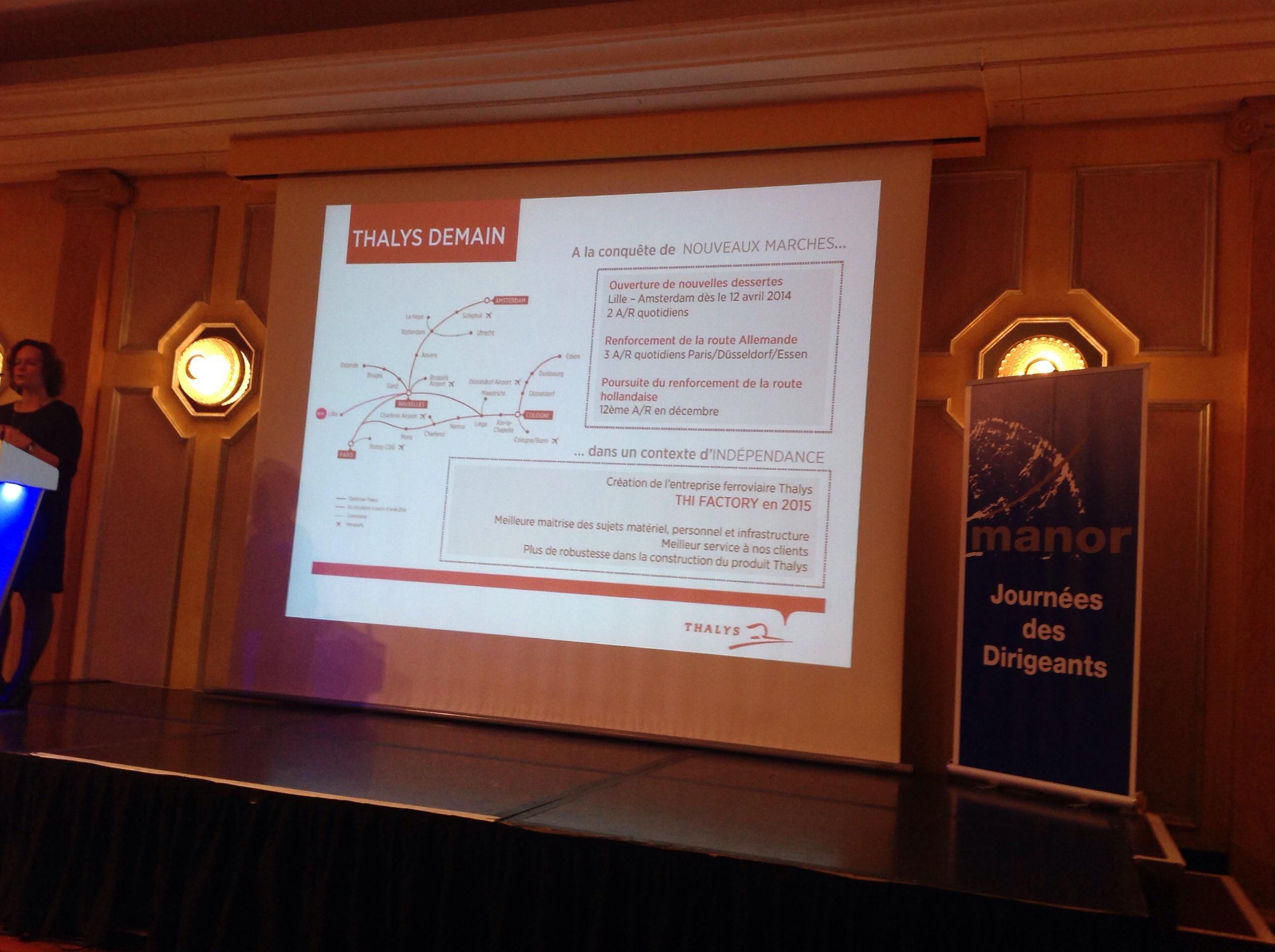 Thalys : nouvelles dessertes et création d'une entreprise ferroviaire (The Factory)