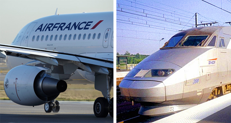 Rien n'interdit à la SNCF d'avoir sa filiale aérienne pas plus que rien n'interdit à Air France d'opérer des TGV - Photomontage - LEROUX, Christophe (Air France)