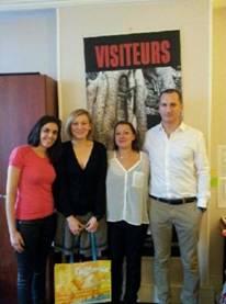 De gauche à droite : Sihame Haddane - Visit California France & Belgique, Loreline Branswick - Visiteurs/Partir, Elise Boisson - San Francisco Travel et Christophe Liot - Air France - Photo DR
