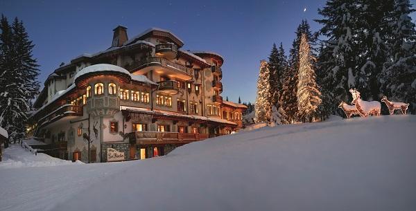 Le Palace les Airelles est situé au pied des pistes des Trois Vallées - Photo DR