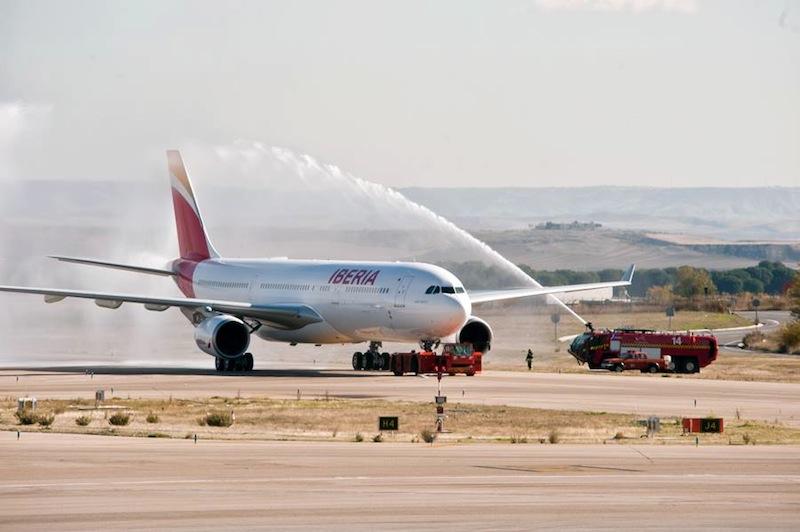 Le baptême du nouvel A 330 à l'aéroport de Madrid - DR Iberia