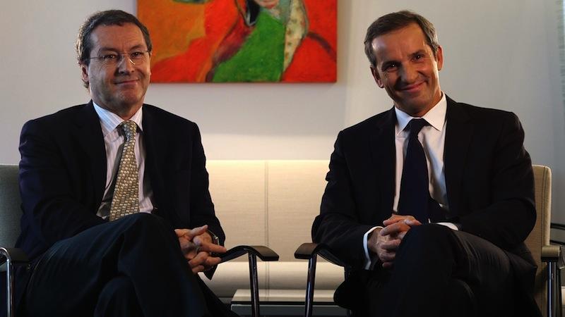 Pascal de Izaguirre le PDG de TUI France accompagné par Pascal Demurger, le directeur France de la MAIF. DR