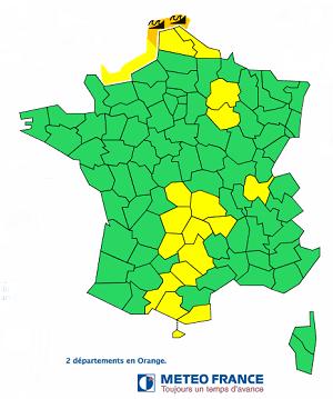Le Nord (59) et le Pas-de-Calais (62) sont placés en vigilance orange par Météo France - DR