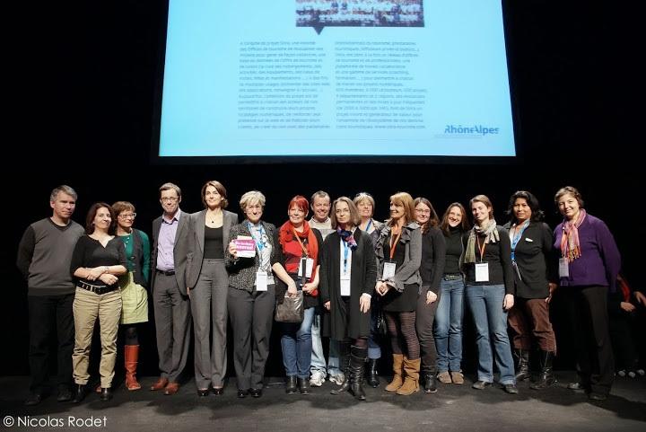 L'équipe Sitra recevant le label Or territoires innovants - DR : Nicolas Rodet