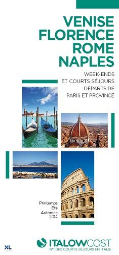 La brochure d'Italowcost pour 2014 intègre Naples et Florence en Italie