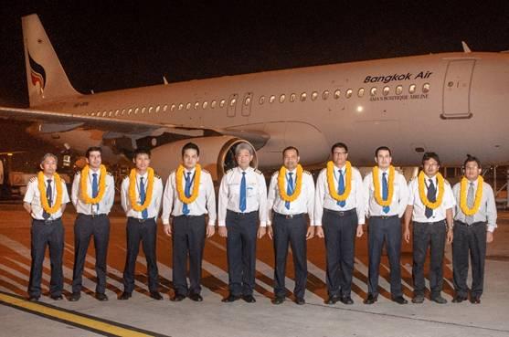 L'Airbus A320 a été livré à Bangkok Airways à l'aéroport de Bangkok - Photo DR