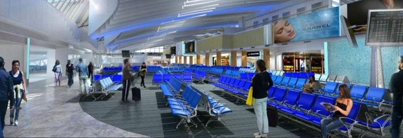 La future salle d'embarquement de l'aéroport Nice Côte d'Azur - DR
