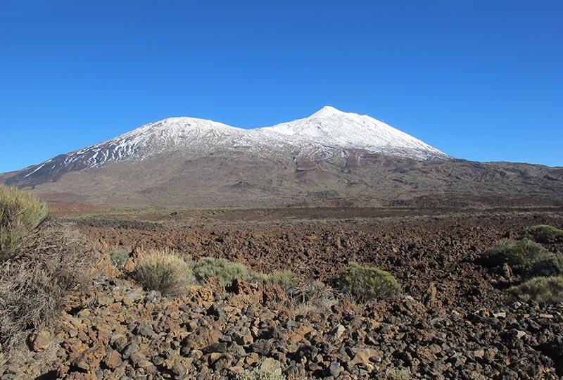 Le Teide, plus haut sommet d'Espagne, sous la neige - DR : A.B.