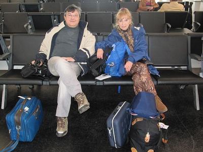 Claude et Arielle prêts à embarquer au MPCT à Marseille - Photo P.C.