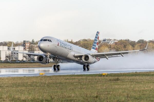 L'A321T d'American Airlines a effectué son premier vol mardi 7 janvier 2014 - Photo DR