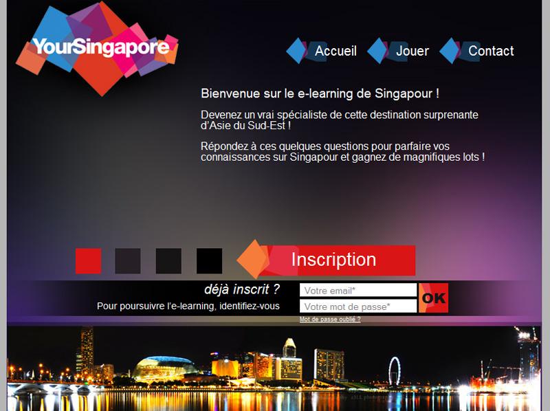 L'elearning Singapour accessible à l'adresse www.elearning-singapour.com