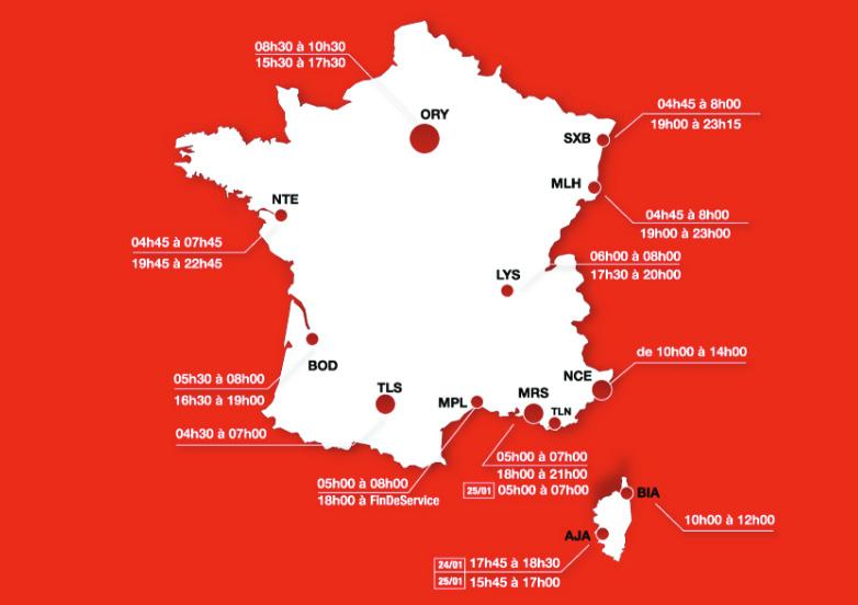 CGT Air France appelle à la grève dans 13 aéroports le 24 janvier 2014