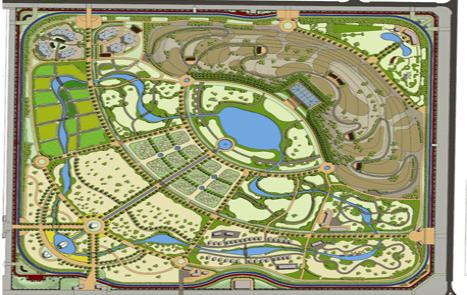 Le plan du parc publié sur le site du gouvernement de Dubaï - Capture d'écran