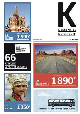 """La brochure """"K, l'essentiel des circuits"""" de Kuoni regroupe 61 itinéraires - DR"""