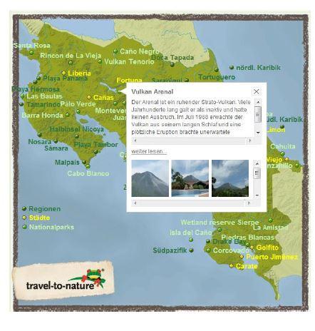 La carte peut être enrichie d'informations diverses.