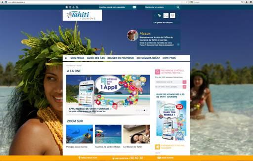 Le nouveau site Internet du GIE Tahiti Tourisme est tourné vers ses visiteurs - Capture d'écran