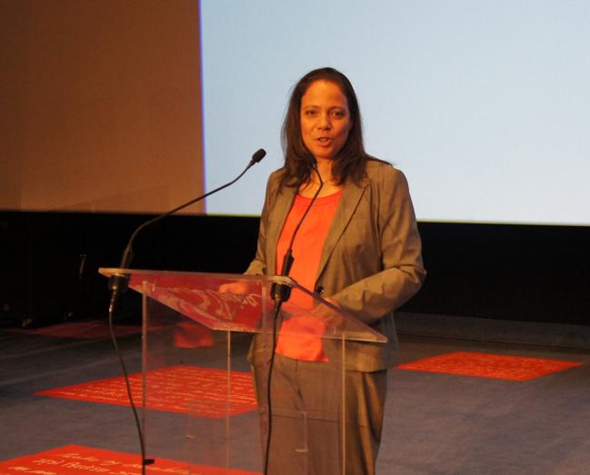 Catherine FRECAUT, présidente du congrès, très émue a ouvert jeudi les 7èmes Rencontres des métiers, du voyage, et du tourisme - Photo CE